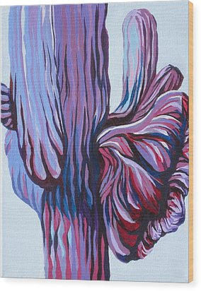 Color Me Purple Wood Print by Sandy Tracey