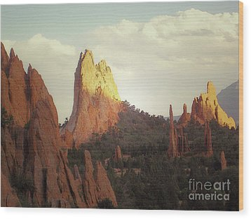 Wood Print featuring the photograph Colorado Garden Of The Gods Landscape by Andrea Hazel Ihlefeld