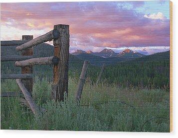 Colorado Glory Wood Print by Ronda Kimbrow