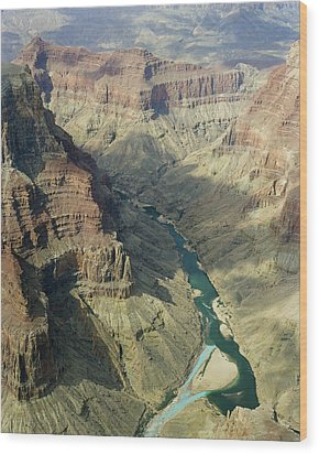 Colorado River In The Grand Canyon Wood Print by M K  Miller
