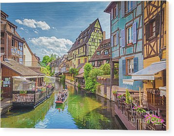 Colorful Colmar Wood Print by JR Photography