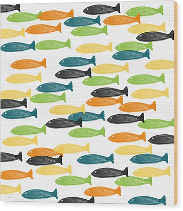 Colorful Fish  Wood Print