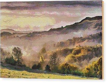 Wood Print featuring the digital art Colors Of Autumn by Gun Legler