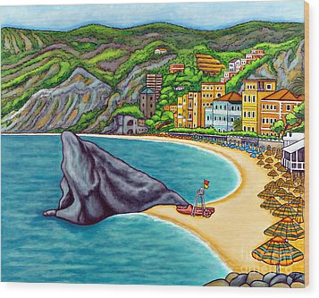 Colours Of Monterosso Wood Print by Lisa  Lorenz