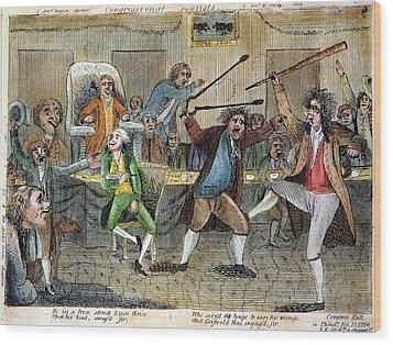 Congressional Pugilists Wood Print by Granger