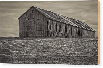 Connecticut Tobacco Barn Wood Print