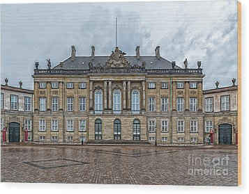 Wood Print featuring the photograph Copenhagen Amalienborg Palace by Antony McAulay