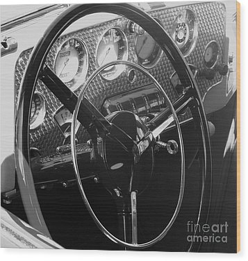 Cord Phaeton Dashboard Wood Print