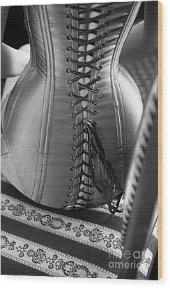 Wood Print featuring the photograph Corset #2278 by Andrey  Godyaykin