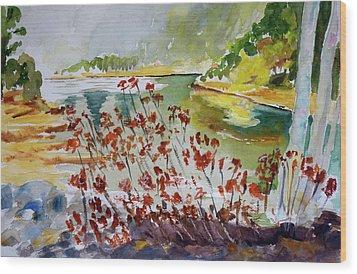 Corte Madera Creek Wood Print