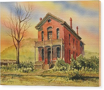 Courthouse Bannack Ghost Town Montana Wood Print by Kevin Heaney