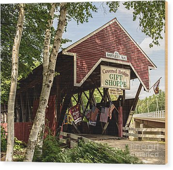 Covered Bridge Gift Shoppe Wood Print