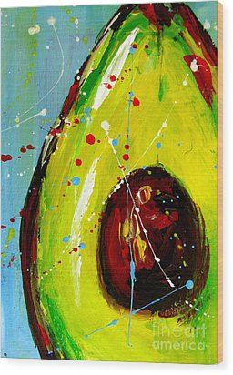 Crazy Avocado Wood Print