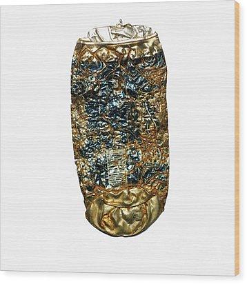 Crushed Beer Cans. Wood Print by Bernard Jaubert