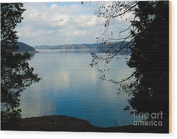 Cumberland Lake Wood Print by Anne Kitzman