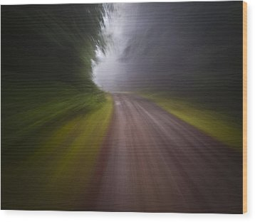 Curve In The Road Blur Wood Print by Ed Book