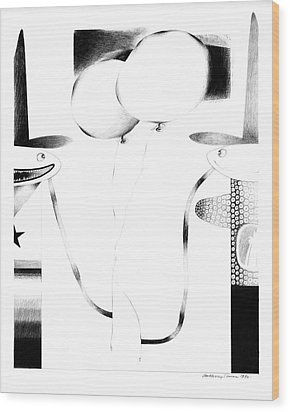 Cycloptic Couple Wood Print by Tony Paine