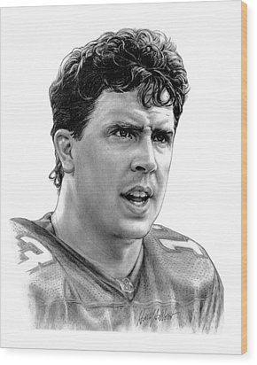 Dan Marino Wood Print by Harry West