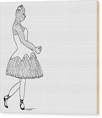 Dancer Wood Print by Karl Addison