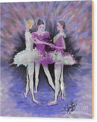 Dancing In A Circle Wood Print by Cynthia Sorensen