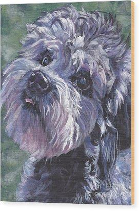 Wood Print featuring the painting Dandie Dinmont Terrier by Lee Ann Shepard