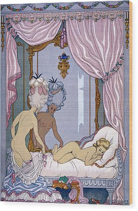 Dangerous Liaisons Wood Print by Georges Barbier