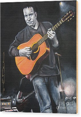 Dave Mathews Band Wood Print by Eric Dee