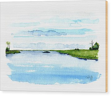 Davis Bayou Ocean Springs Mississippi Wood Print by Paul Gaj