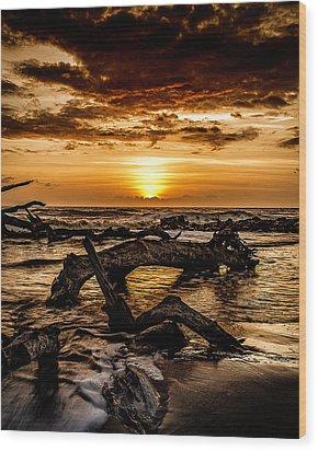 Dawn's First Light Wood Print
