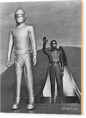 Day The Earth Stood Still Wood Print by Granger