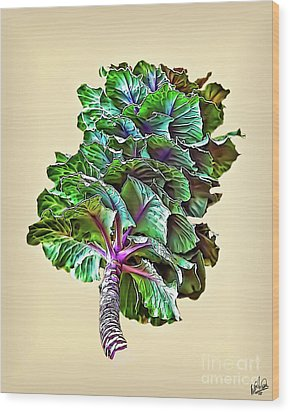 Wood Print featuring the photograph Decorative Cabbage by Walt Foegelle