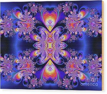 Wood Print featuring the digital art Deep Heart by Ian Mitchell