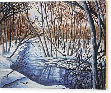 Deep Woods Wisconsin Wood Print