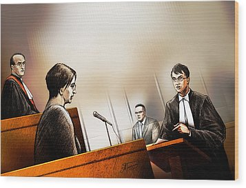 Defence Attorney Dirk Derstine At The Tori Stafford Murder Trial In London Wood Print