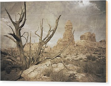 Wood Print featuring the photograph Desert Tree by Mike Irwin