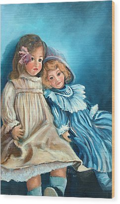 Dolls At Rest Wood Print by Sally Seago