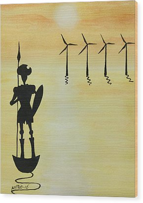 Don Quixote Wood Print
