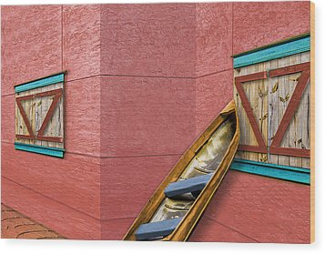 Done Fishing Wood Print by Paul Wear