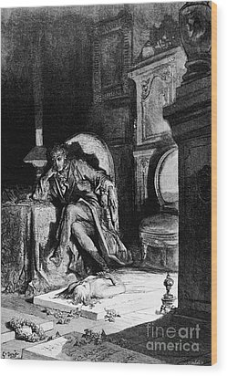 DorÉ: The Raven, 1882 Wood Print by Granger