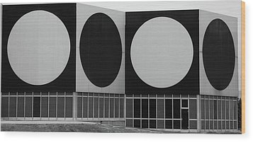 Wood Print featuring the photograph Dot Building by Matthew Bamberg
