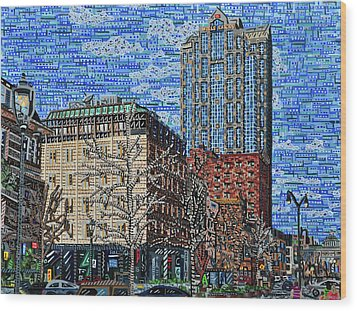 Downtown Raleigh - Fayetteville Street Wood Print by Micah Mullen