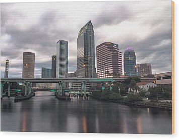 Downtown Tampa Wood Print