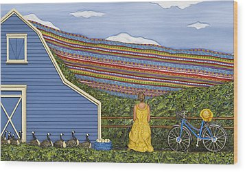 Wood Print featuring the sculpture Dream Cycle by Anne Klar