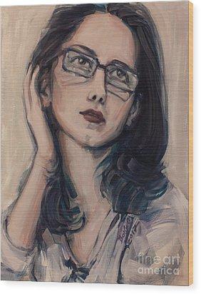 Dreaming With Open Eyes Wood Print by Olimpia - Hinamatsuri Barbu