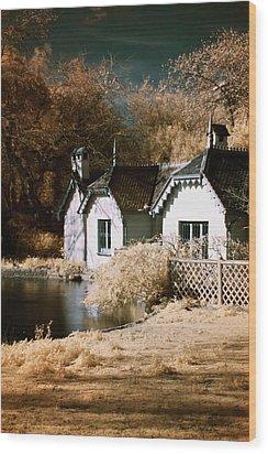 Duck Island Cottage Wood Print