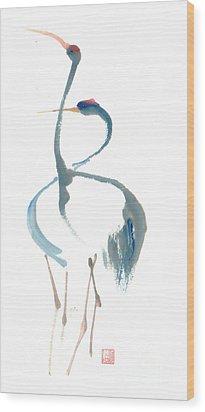 Duet Wood Print by Mui-Joo Wee