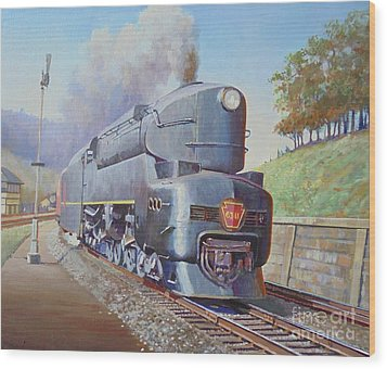 Wood Print featuring the painting Duplex Express by Mike Jeffries