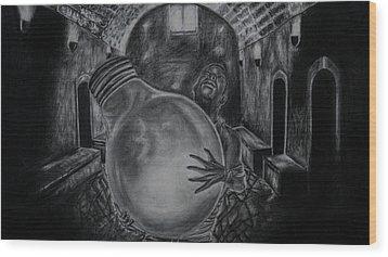 Dying Soul Wood Print by Kodjo Somana