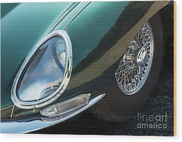 Wood Print featuring the photograph E-type by Dennis Hedberg