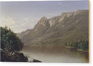 Eagle Cliff At Franconia Notch In New Hampshire Wood Print by David Johnson